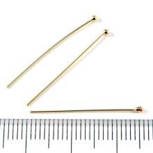 別アングル1: 飾り玉付きピン 25mm 5本 Gold Filled(ゴールドフィルド)14KGF/K14GF