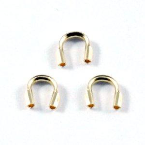 画像1: ワイヤーカバー 5個 Gold Filled(ゴールドフィルド)14KGF/K14GF