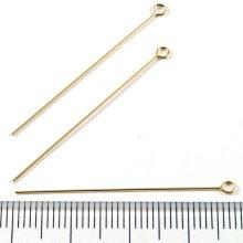 別アングル1: 9ピン 38mm 5本 Gold Filled(ゴールドフィルド)14KGF/K14GF