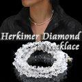 レア天然石ハーキマーダイアモンドネックレス/煌びやかな瞬きが見る者を魅了!
