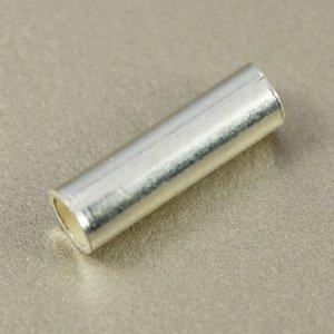 画像1: シルバーチューブビーズ 10mm 1個