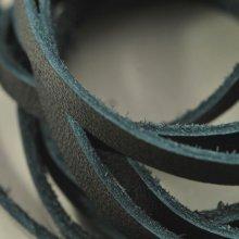 別アングル1: ソフト牛平革紐 3mm幅(ブラック)1m